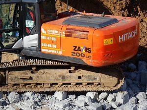Hitachi ZX200LC-5G. Земляные работы экскаватором