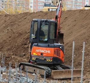 Hitachi ZX35U-3F. Аренда экскаватора